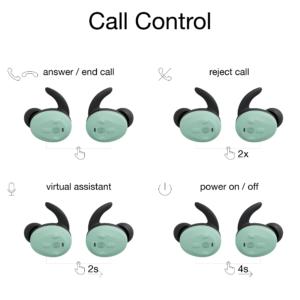 functie-uitleg-bedieningspaneel-Thone-draadloze-oordop-telefoneren-mint